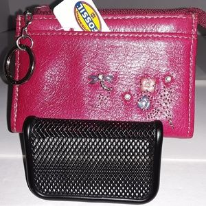 Fossil coin purse W/key ring - NWT